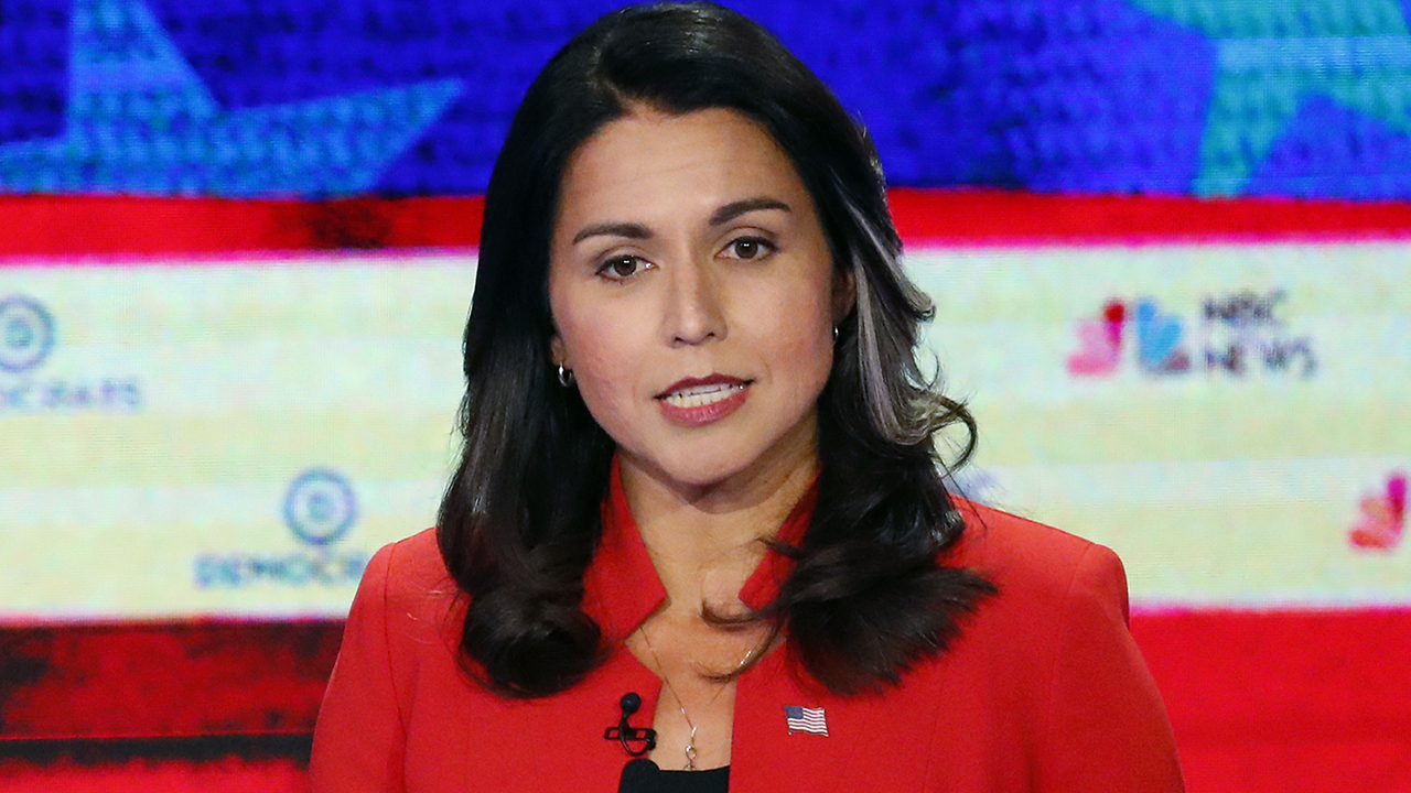 Westlake Legal Group tulsi-gabbard-debate Who is Tulsi Gabbard? What to know about the 2020 Democratic presidential candidate Stephen Sorace fox-news/politics/house-of-representatives/democrats fox-news/politics/elections/democrats fox-news/politics/2020-presidential-election fox-news/person/tulsi-gabbard fox news fnc/politics fnc article 11990deb-1d99-55b5-84ff-8bca9a224b24