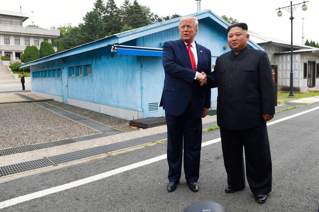 Westlake Legal Group AP19197325331113 Trump says third summit with Kim Jong Un 'could happen soon' amid stalled nuclear talks Melissa Leon fox-news/world/conflicts/north-korea fox-news/person/kim-jong-un fox-news/person/donald-trump fox-news/news-events/us-north-korea-summit fox news fnc/us fnc article 4b65f24d-0b80-5abf-a888-887a3e8bc612