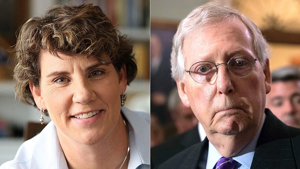 photo image Primary challenge to Amy McGrath's bid to take down McConnell 'might be helpful,' Dem lawmaker says