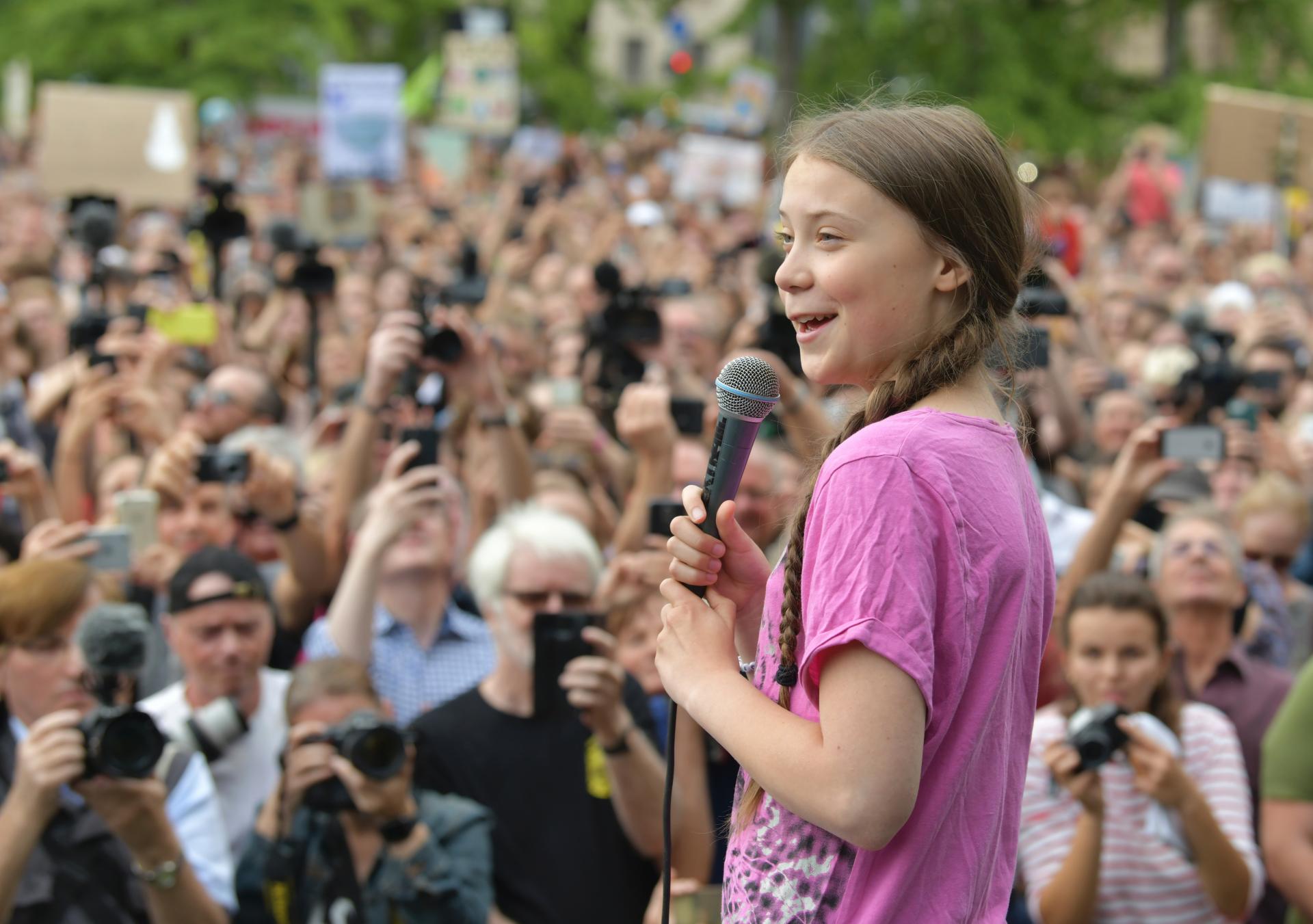 Teen climate activist Greta Thunberg mural in Canada vandalized