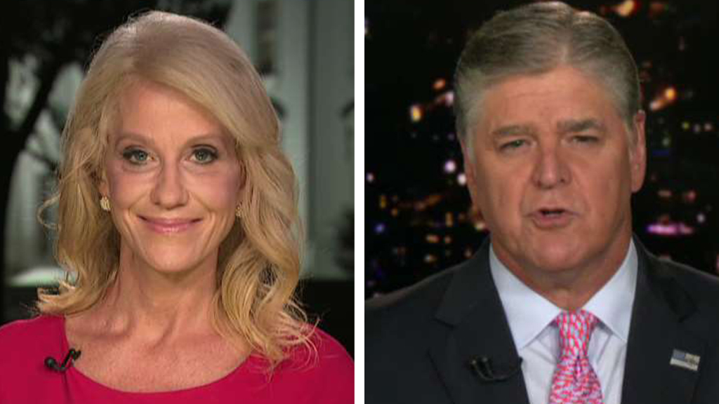 Westlake Legal Group Conway-Hannity_FOX Kellyanne Conway says critics employ Hatch Act to 'silence' her support for Trump fox-news/topic/fox-news-flash fox-news/politics/house-of-representatives/democrats fox-news/politics/house-of-representatives fox-news/politics/executive/white-house fox-news/person/donald-trump fox-news/entertainment/media fox news fnc/politics fnc Charles Creitz article 3e1e0c93-1cec-5fcf-9e2a-52c37a49c0d7