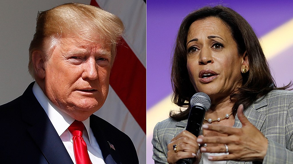 Kamala Harris compares Trump to 'Wizard of Oz' on trade: 'A really small dude'