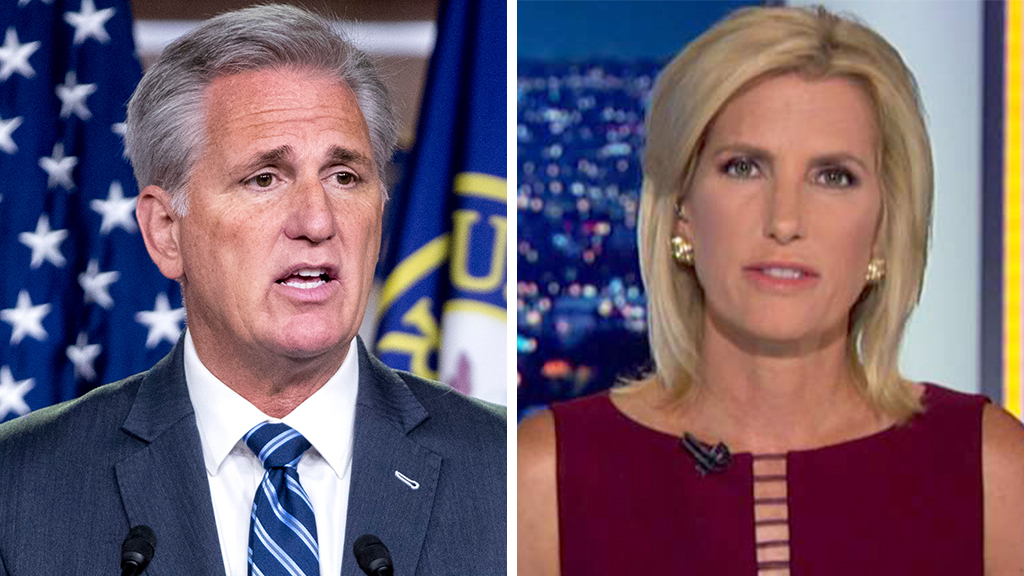 Westlake Legal Group McCarthy-Ingraham_AP-FOX Kevin McCarthy: AOC and socialist Dems are 'taking over' the party from Pelosi, moderates fox-news/topic/fox-news-flash fox-news/shows/ingraham-angle fox-news/politics/regulation/media fox-news/politics/house-of-representatives/democrats fox-news/person/nancy-pelosi fox-news/person/kevin-mccarthy fox-news/person/alexandria-ocasio-cortez fox news fnc/politics fnc Charles Creitz ba343312-cc08-5ca3-b2d7-376b10647fec article