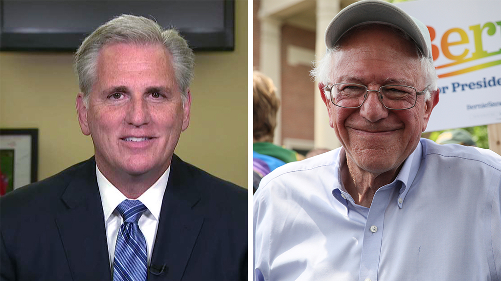 Westlake Legal Group McCarthy-Sanders_FOX-AP Kevin McCarthy: Why Bernie Sanders has the best chance to win 2020 Dem nomination fox-news/topic/fox-news-flash fox-news/shows/special-report fox-news/politics/2020-presidential-election fox-news/person/kevin-mccarthy fox-news/person/joe-biden fox-news/person/bernie-sanders fox-news/entertainment/media fox news fnc/politics fnc Charles Creitz article 3caa5112-d5be-563b-9fa0-56e238d7d57c