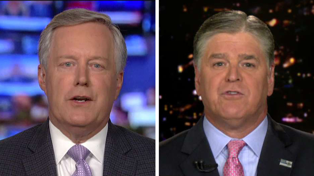 Westlake Legal Group Meadows-Hannity_FOX Mark Meadows: Comey basically 'went through red stoplights' trying to 'get' Trump fox-news/topic/fox-news-flash fox-news/tech/topics/fbi fox-news/person/james-comey fox-news/person/donald-trump fox-news/news-events/russia-investigation fox-news/entertainment/media fox news fnc/politics fnc Charles Creitz article 77e53f03-0cfe-5863-a4a3-7858e6f1e1d1