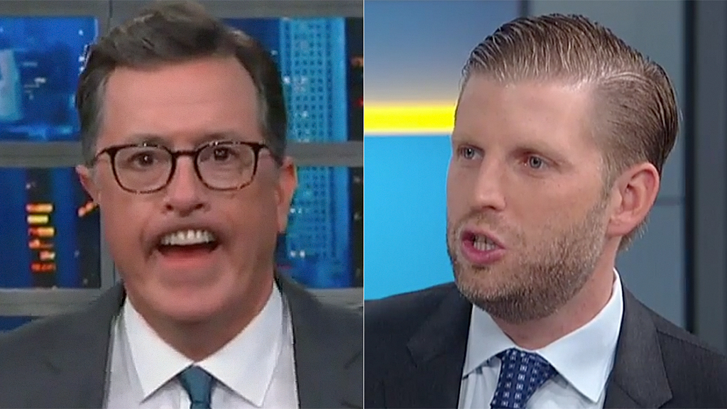 Westlake Legal Group Stephen-Colbert-Eric-Trump-CBS-FOX Stephen Colbert mocks Eric Trump's physical appearance in harsh monologue Sam Dorman fox-news/politics/executive/first-family fox-news/person/stephen-colbert fox news fnc/entertainment fnc fe06b4f0-3538-5355-9680-e71e7fdcf336 article