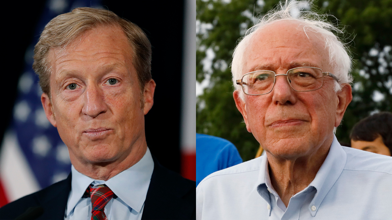 Westlake Legal Group Steyer-Sanders-AP Sanders reacts to Steyer's 2020 bid: 'Tired of seeing billionaires trying to buy political power' Sam Dorman fox-news/politics/2020-presidential-election fox-news/person/tom-steyer fox-news/person/bernie-sanders fox-news/entertainment/media fox news fnc/politics fnc dcf2958c-037d-5382-ad38-dabafdebf38d article