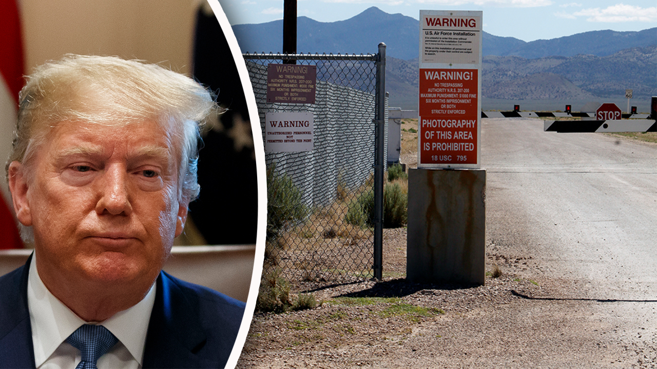 Westlake Legal Group Trump-Area51_AP Jesse Watters: Here's why Trump probably hasn't been told anything about Area 51 fox-news/us/us-regions/west/nevada fox-news/us/military/air-force fox-news/topic/aliens fox-news/tech/topics/us-air-force fox-news/tech/companies/facebook fox-news/shows/the-five fox-news/person/donald-trump fox-news/media/fox-news-flash fox-news/entertainment/media fox news fnc/politics fnc Charles Creitz article 7840f2ea-cfc1-5a60-a7e4-39340a131b9d