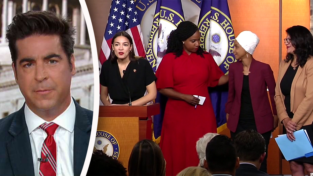 Westlake Legal Group Watters-Dems_FOX Jesse Watters: Trump 'won' the 'squad' press conference, Dems just want to 'impeach him for tweeting' fox-news/us/us-regions/northeast/massachusetts fox-news/us/immigration fox-news/topic/fox-news-flash fox-news/shows/the-five fox-news/politics/house-of-representatives/democrats fox-news/politics/house-of-representatives fox-news/politics/executive/white-house fox-news/politics/elections/republicans fox-news/person/rashida-tlaib fox-news/person/ilhan-omar fox-news/person/donald-trump fox-news/person/alexandria-ocasio-cortez fox-news/entertainment/media fox news fnc/politics fnc Charles Creitz b1ae0ec1-e3b7-55f5-90af-6993874ee9d1 article