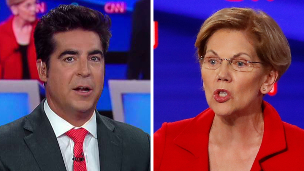 Watters Warren FOX AP - Jesse Watters calls Warren's debate attack on Buttigieg 'kind of cheap and a little corny'