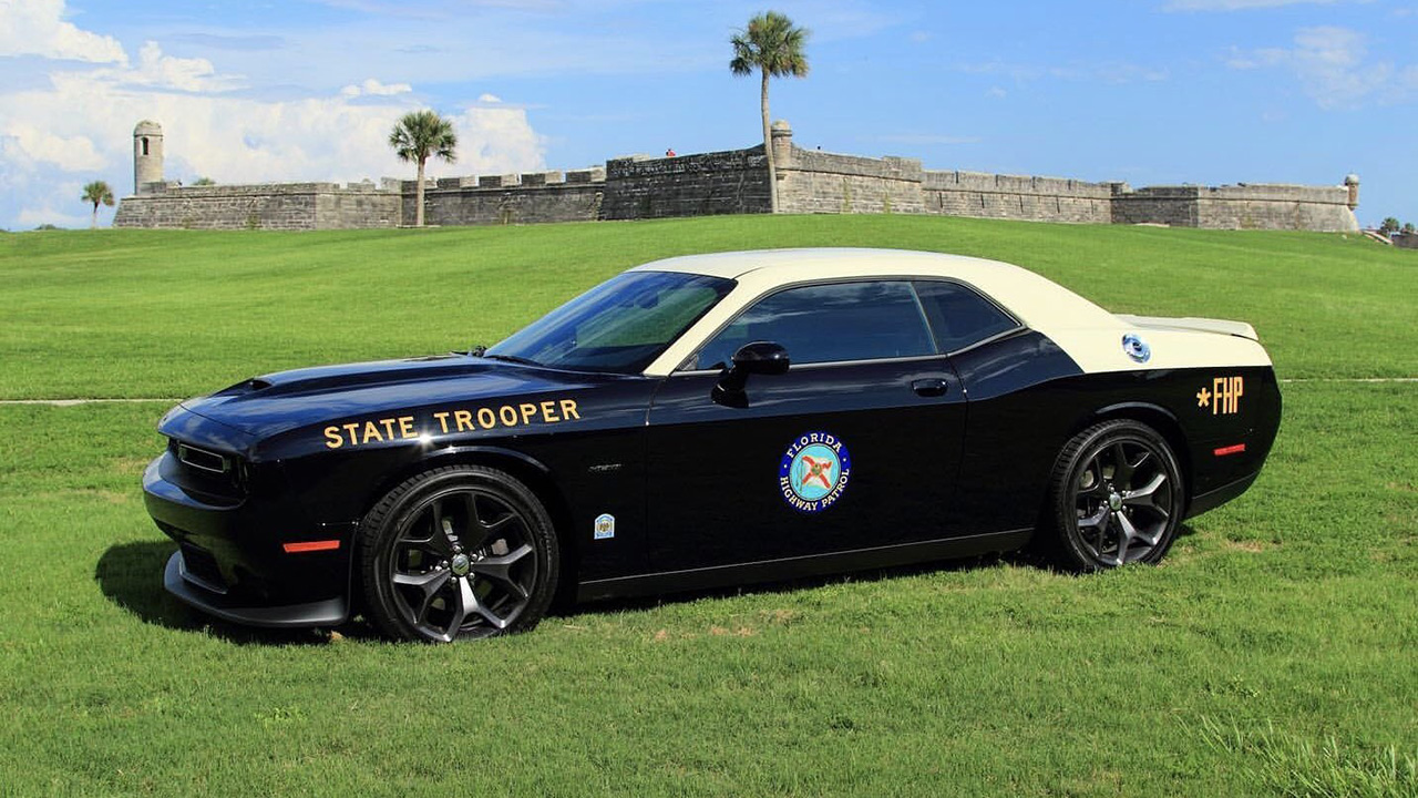 Dodge Challenger cop car adds muscle to the Florida Highway Patrol fleet