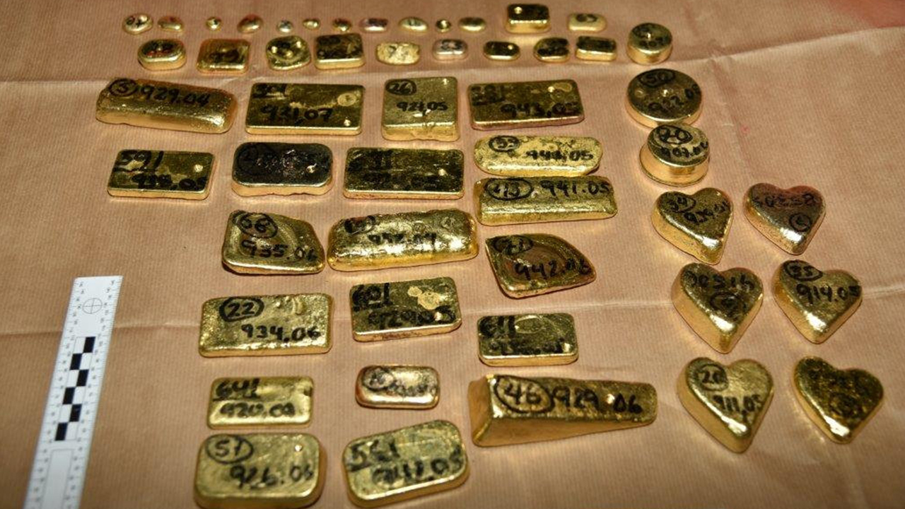 heathrow gold bars SWNS