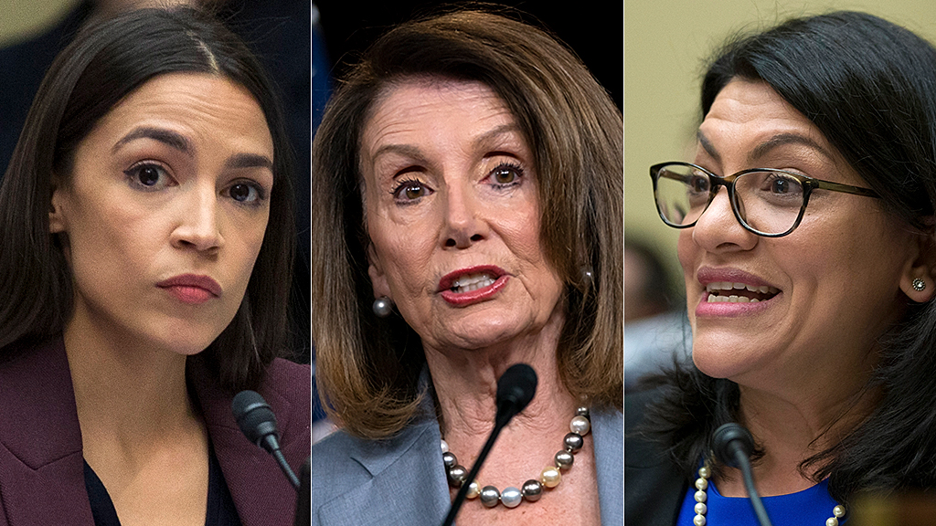 Westlake Legal Group ocasio-pelosi-tlaib-AP 'The Squad' revives feud with Pelosi: Be aware when you 'single us out' that we're 'women of color' Joseph Wulfsohn fox-news/politics/house-of-representatives/democrats fox-news/person/rashida-tlaib fox-news/person/ilhan-omar fox-news/person/donald-trump fox-news/person/alexandria-ocasio-cortez fox-news/entertainment/media fox news fnc/politics fnc e183e74b-5adf-5a3f-8112-63349f8139c2 article