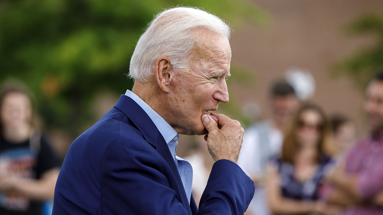 Joe Biden assures voters he's 'not going nuts' during campaign stop
