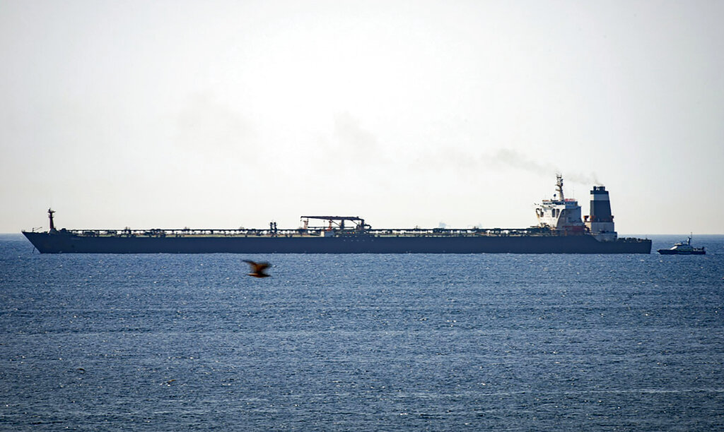 Westlake Legal Group AP19227361143228 Iranian tanker set to leave Gibraltar despite US warrant to seize vessel fox-news/world/world-regions/middle-east fox-news/world/conflicts/iran fox-news/politics/foreign-policy fnc/world fnc Associated Press article a85d2785-8405-5c9e-a7da-1a19bbe588cf