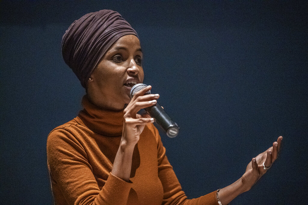 Westlake Legal Group AP19240050434551 Ilhan Omar slams Meghan McCain, accuses 'View' co-host of hypocrisy on Sanders backers' online attacks fox-news/person/meghan-mccain fox-news/person/ilhan-omar fox-news/person/bernie-sanders fox-news/media fox-news/entertainment/the-view fox news fnc/politics fnc Brie Stimson article 12ab8944-fc1b-59d6-ba89-d27b38f77829