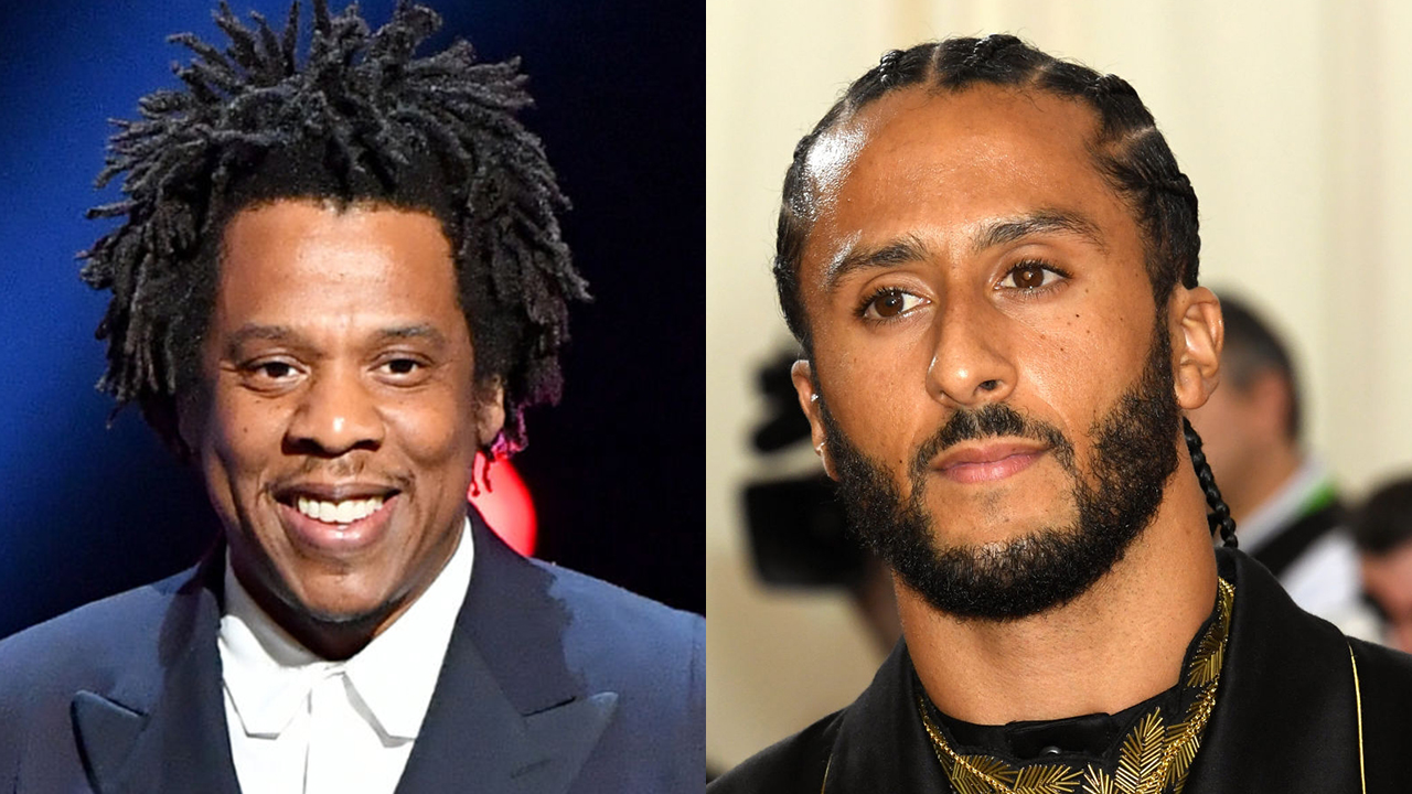 Westlake Legal Group Colin-Kaepernick-split Colin Kaepernick's girlfriend slams Jay-Z for NFL partnership Joseph Wulfsohn fox-news/sports/nfl fox-news/sports fox-news/person/colin-kaepernick fox-news/entertainment/music fox-news/entertainment fox news fnc/entertainment fnc article 17dd8e6c-bea0-553f-be17-138dd4cbcb15