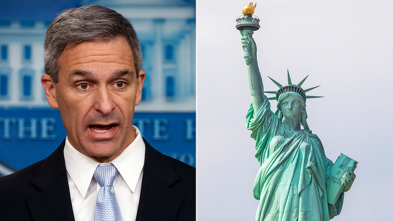 Westlake Legal Group Cuccinelli-Liberty Ken Cuccinelli is asked if Lady Liberty's plaque should come down amid immigration changes Nick Givas fox-news/us/immigration/illegal-immigrants fox-news/us/immigration fox-news/politics/executive/white-house fox-news/media fox news fnc/media fnc b0d4077f-3426-5751-a78b-0cad60526537 article