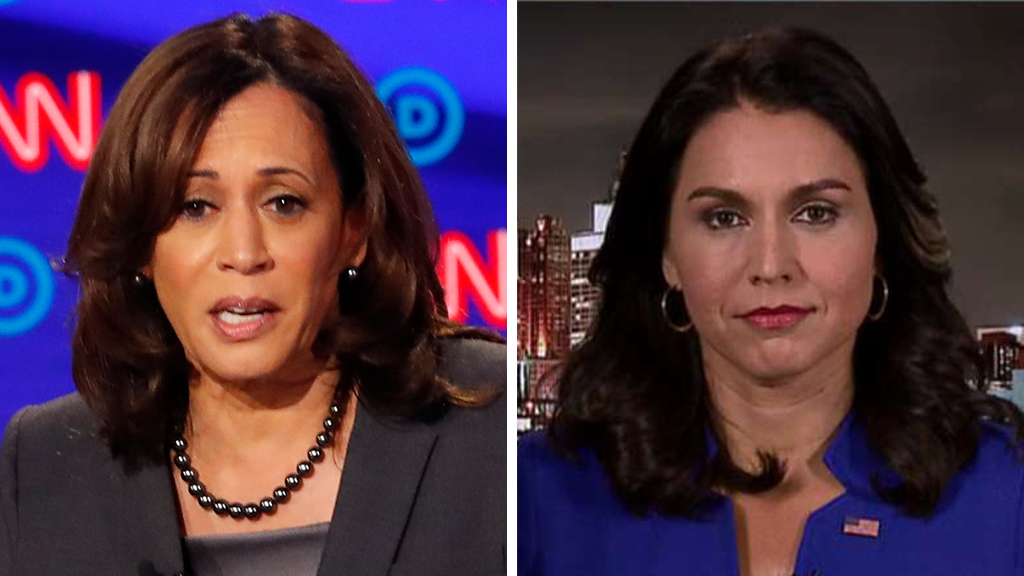 Westlake Legal Group Harris-Gabbard_AP-FOX Tulsi Gabbard: Kamala Harris ignored challenge from me, lobbed 'cheap' smears instead fox-news/us/crime/police-and-law-enforcement fox-news/us/crime/drugs fox-news/politics/elections/democrats fox-news/politics/2020-presidential-election fox-news/person/tulsi-gabbard fox-news/person/kamala-harris fox-news/media/fox-news-flash fox-news/media fox news fnc/media fnc Charles Creitz article 59b10bd0-80aa-563e-ae02-98e78b1ae4ce