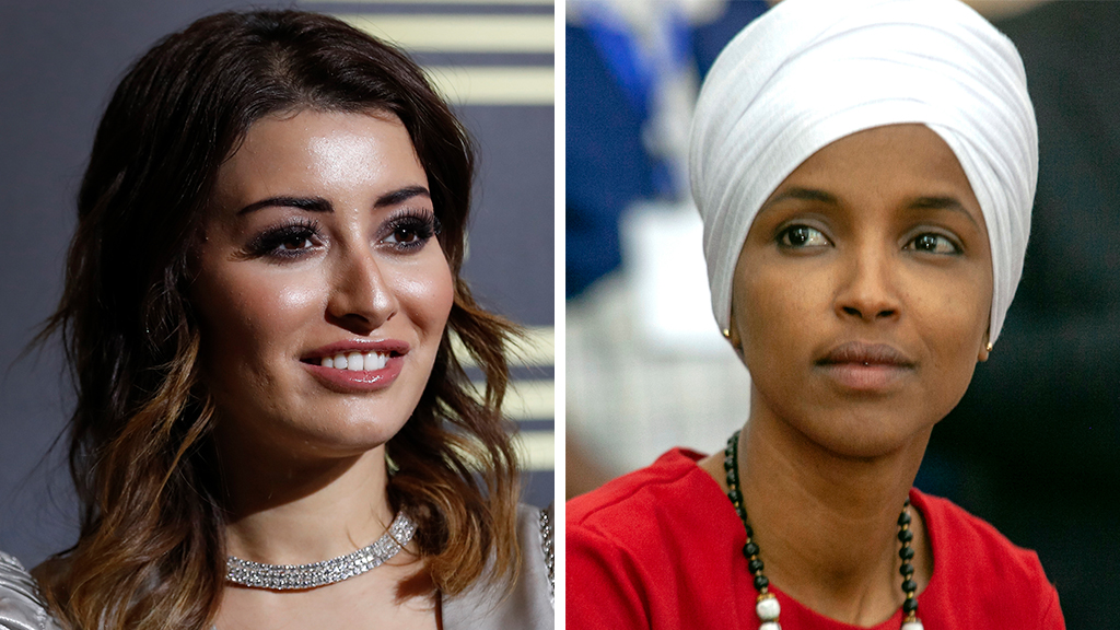 Westlake Legal Group Idan-Omar_Getty-AP Onetime Miss Iraq clashes with Rep. Omar after saying lawmaker doesn't represent her as Muslim Sam Dorman fox-news/world/religion/islam fox-news/person/ilhan-omar fox news fnc/politics fnc article 73c1025e-7828-5509-8d70-097108feec5c