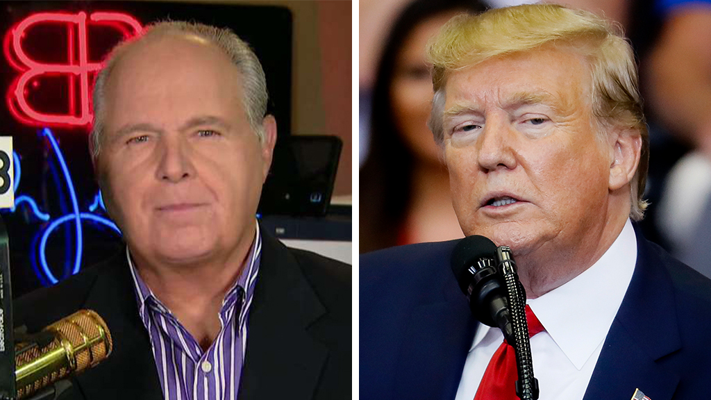 Westlake Legal Group Limbaugh-Trump_FOX-AP Rush Limbaugh: Dems want to 'pretend' Trump abused power and sweep Carter Page revelation 'under the rug' Victor Garcia fox-news/person/donald-trump fox-news/news-events/russia-investigation fox-news/media fox news fnc/media fnc f00b0aa8-6f2a-5c24-8e57-f51c77e097d6 article