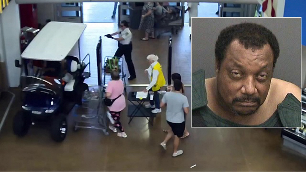 Florida man drives golf cart into Walmart, tries to hit shoppers before hitting cash register, deputies say