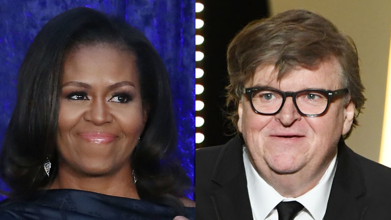Westlake Legal Group Michael-Moore-obama Michael Moore pushes Michelle Obama to run for president: She would 'crush' Trump Joseph Wulfsohn fox-news/politics/elections/democrats fox-news/politics/2020-presidential-election fox-news/person/michelle-obama fox-news/media fox-news/entertainment fox news fnc/entertainment fnc article adb24b1e-2ca3-5518-aa99-babaa1a00163