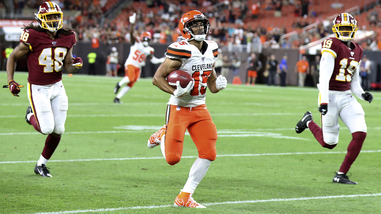 Cleveland Browns' Damon Sheehy-Guiseppi scores touchdown in latest twist to wild NFL journey