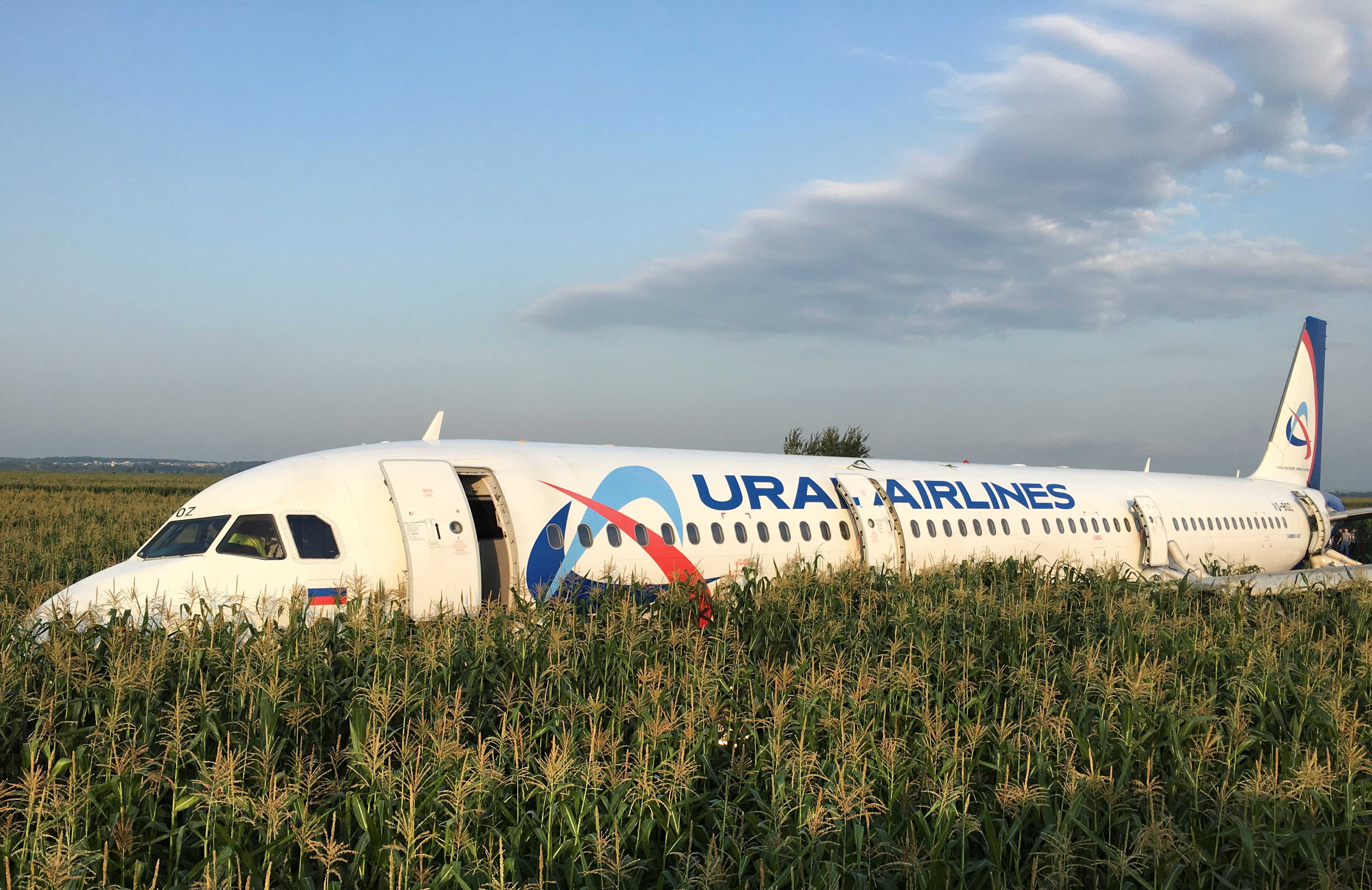 Russian pilot hailed after 'miracle' landing of passenger jet following bird strike