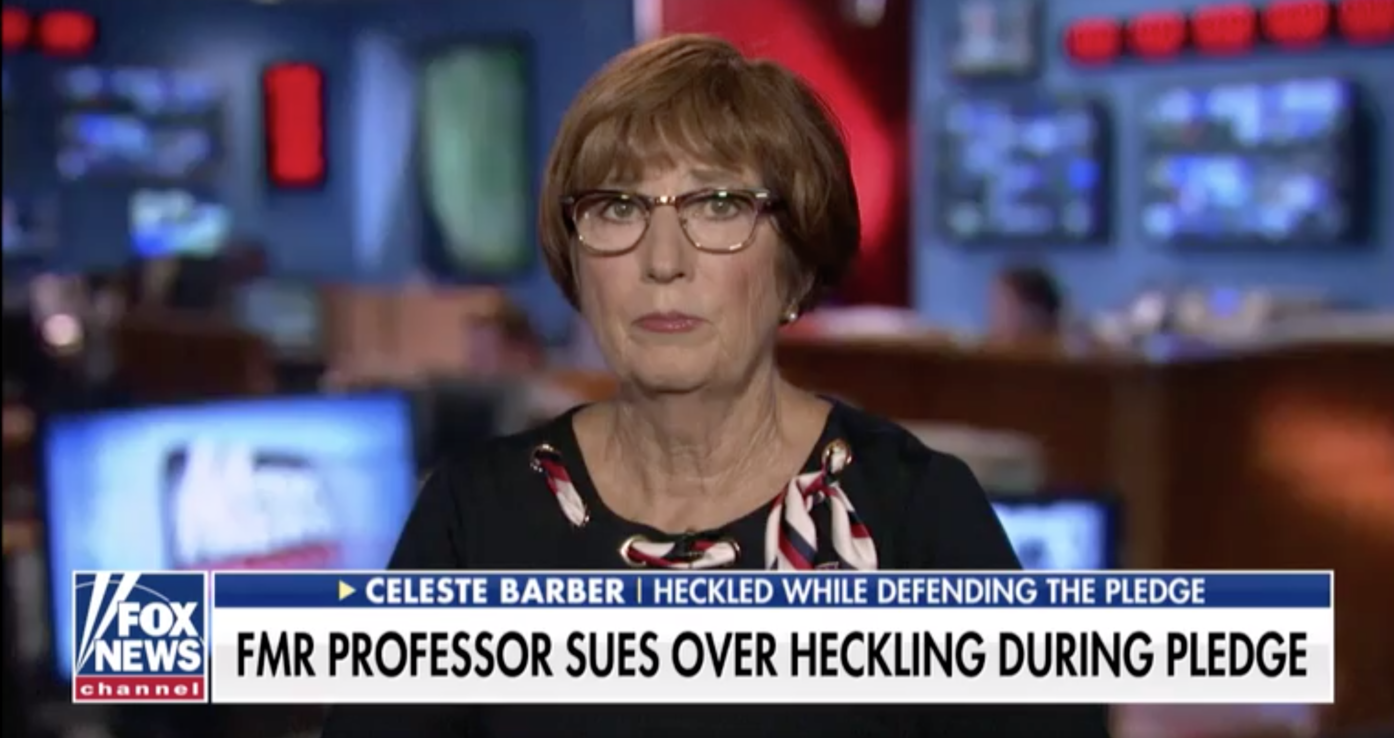 College professor who was heckled for defending the Pledge of Allegiance sues for violation of civil rights