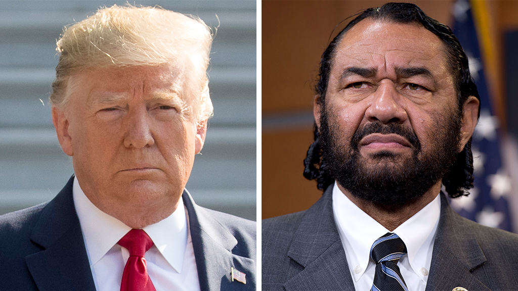 Rep Al Green renews call to impeach Trump: 'We can't let him walk the Earth without that stain'