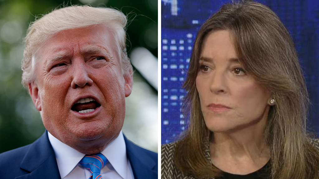 Westlake Legal Group Trump-Williamson_AP-FOX Marianne Williamson: Trump 'fanned flames' of white supremacy, but 'unfair' to say he is directly responsible for El Paso, Dayton shootings Joseph Wulfsohn fox-news/shows/the-story fox-news/politics/2020-presidential-election fox-news/person/donald-trump fox-news/media/fox-news-flash fox news fnc/media fnc bfa38512-1844-5128-a149-79525d40c987 article