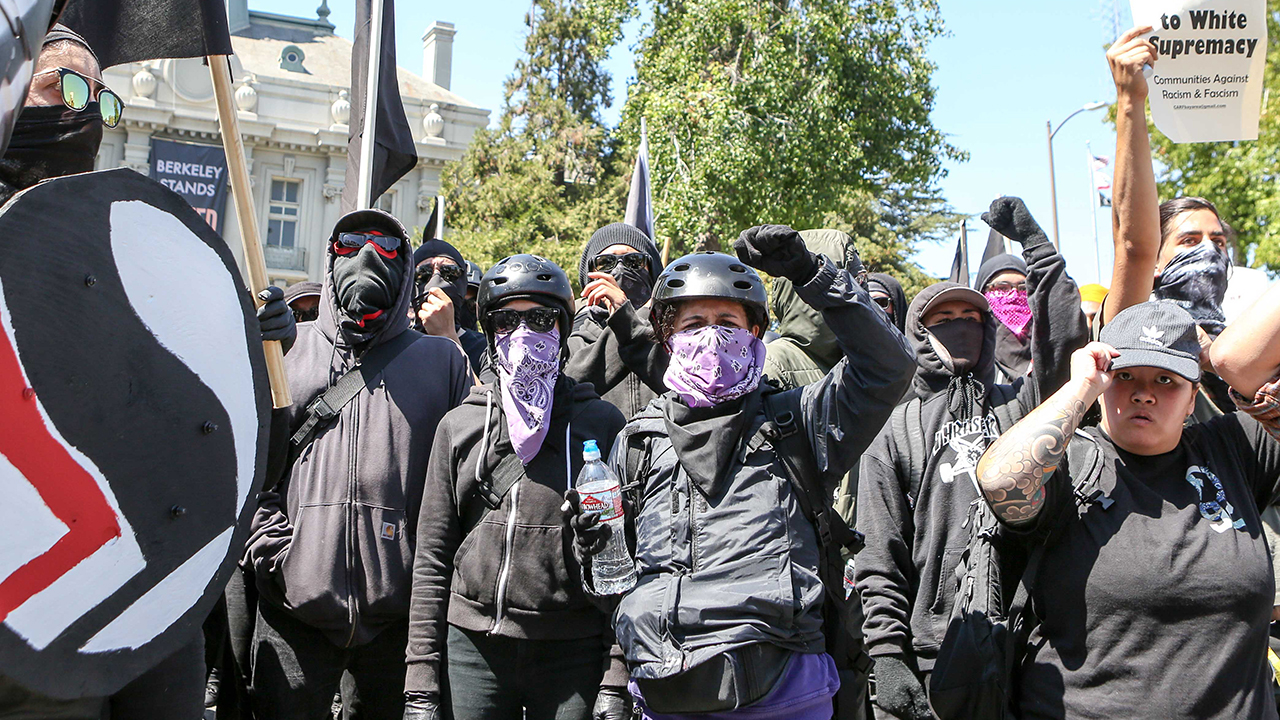 Westlake Legal Group antifa-GettyImages-839983916 Iowa prof says 'I am Antifa'; once posted desire to bash Trump with baseball bat Lukas Mikelionis fox-news/us/us-regions/midwest/iowa fox-news/us/education/controversies fox-news/us/education/college fox-news/us/crime/antifa fox news fnc/us fnc article a8a28ae6-f494-576d-861e-91232c9f0116