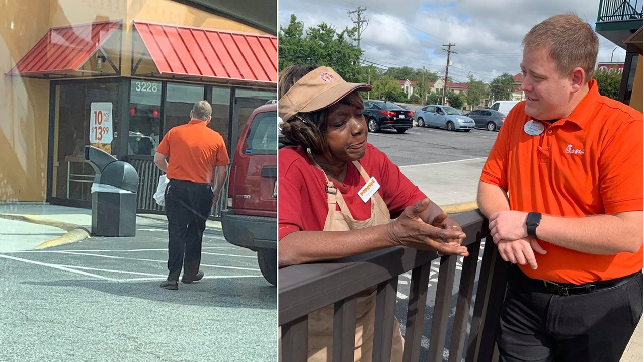 Chick-fil-A director's peace offering to 'stressed out' Popeyes employees goes viral