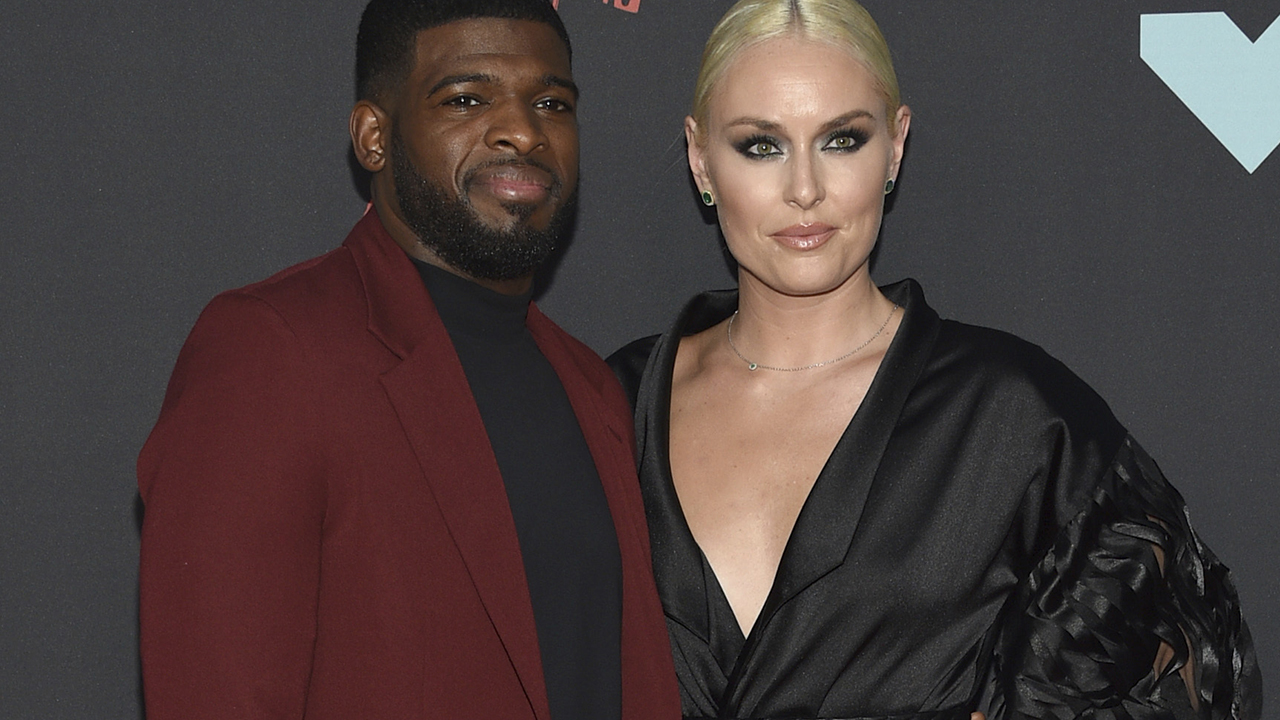 Lindsey Vonn shows off engagement ring from P.K. Subban on VMAs red carpet