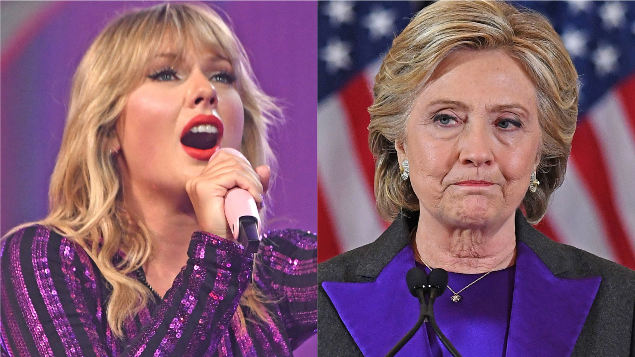 Westlake Legal Group taylor-swift-hillary-clinton-getty Taylor Swift likens herself to Hillary Clinton as she explains why she was silent on politics Jessica Sager fox-news/politics/the-clintons fox-news/person/taylor-swift fox-news/entertainment/music fox-news/entertainment/genres/political fox-news/entertainment fox news fnc/entertainment fnc article 294e5103-46f6-516e-b213-131ed158a66f