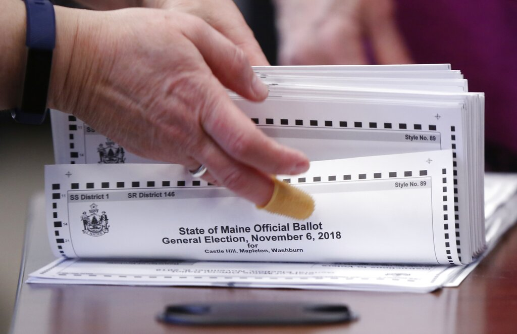 Westlake Legal Group AP19249415791126 Maine set to become first state to allow ranked voting in presidential election Vandana Rambaran fox-news/us/us-regions/northeast/maine fox-news/politics/state-and-local/controversies fox-news/politics/elections/presidential-primaries fox-news/politics/2020-presidential-election fox-news/politics fox news fnc/politics fnc de11b0bd-91f3-58d7-9df9-e841e1b937db article