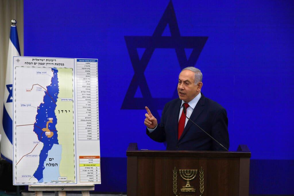 ネタニヤフ誓約附属書全体ヨルダン渓谷の支援のた場合には勝はイスラエル総選挙