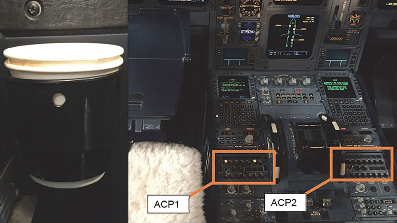 Flight diverted after pilot's coffee spills on control panel, smoke fills cockpit