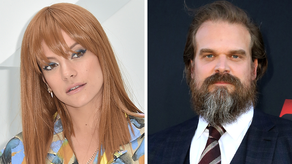 David Harbour and Lily Allen continue to fuel dating rumors after being spotted together at boxing match