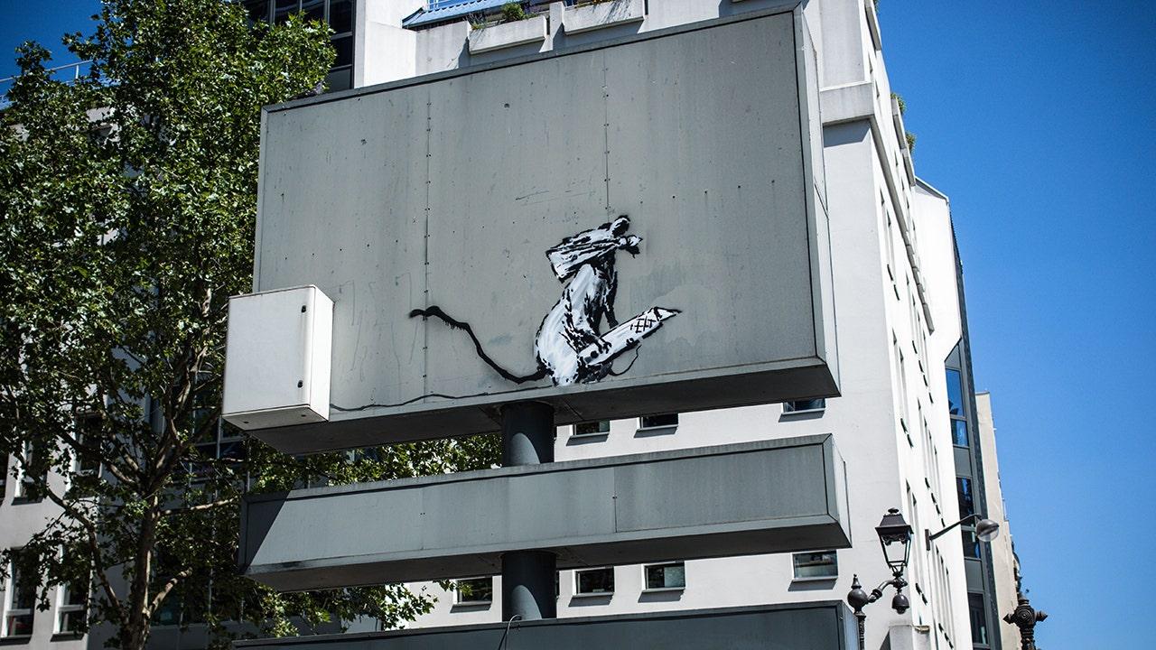 Banksy artwork of rat holding blade snatched in Paris