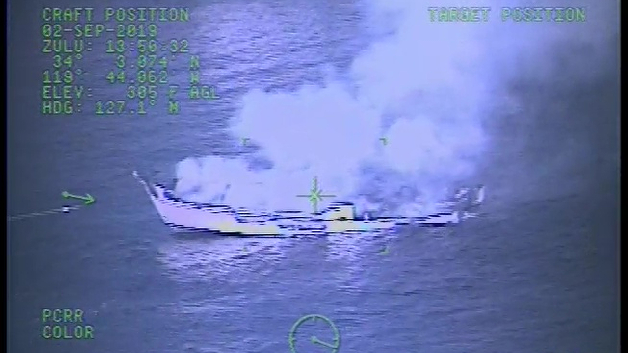 Westlake Legal Group Boat-Fire-2 Aerial video captures dive-boat engulfed in flames before sinking off Southern California coast fox-news/us/us-regions/west/california fox-news/us/military/coast-guard fox-news/us/disasters/fires fox news fnc/us fnc Danielle Wallace article 3da143a3-a78e-5dbf-94eb-a1c0b0fa5f54