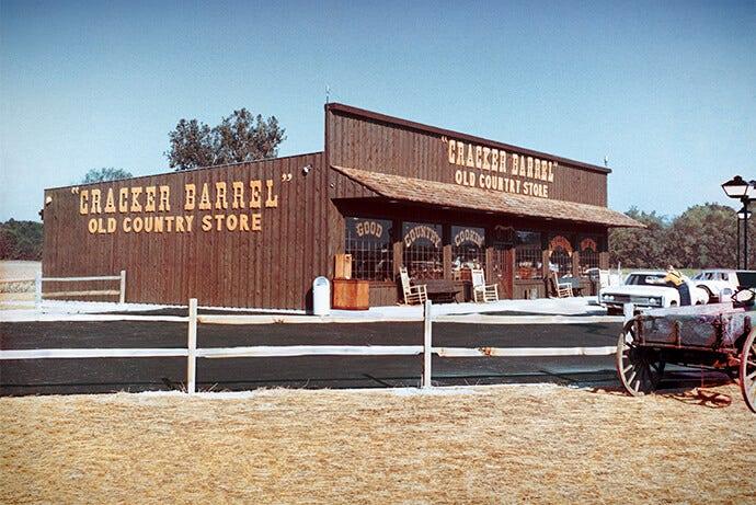 Cracker Barrel Aktien original Menü, wenig bekannte Fakten, die für 50-jähriges bestehen Feiern