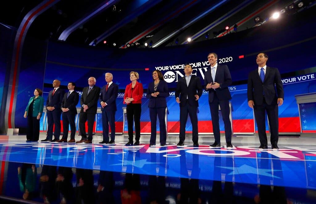 2020 Dem Debatte in Houston bekommt ein persönliches; Diskussion Gewinner und Verlierer; McCabe mögliche strafrechtliche Anklagen konfrontiert