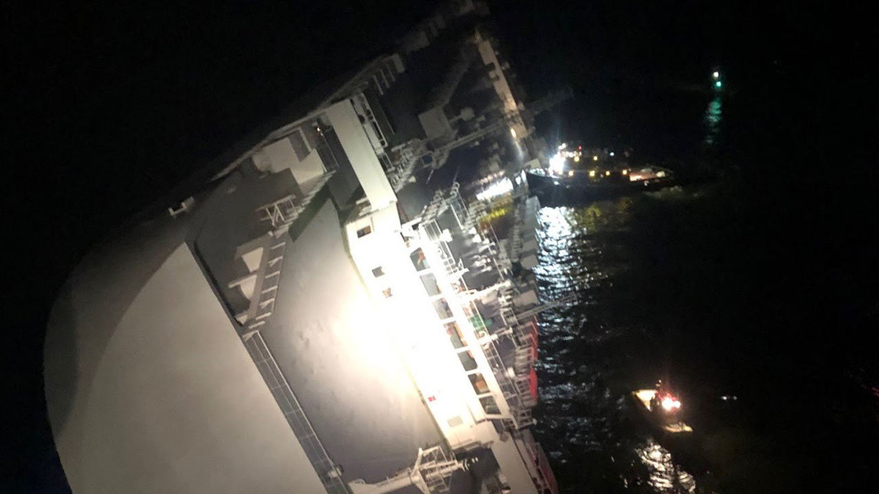 Westlake Legal Group GeorgiaShip1 Cargo ship 'listing heavily' in Georgia port, crew evacuated, Coast Guard says Travis Fedschun fox-news/us/us-regions/southeast/georgia fox-news/us/military/coast-guard fox-news/us/disasters/transportation fox news fnc/us fnc article 58926383-4a36-5d62-9921-99fb90b18fe0