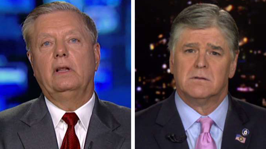 Westlake Legal Group Graham-Hannity_FOX-1 Lindsey Graham says any Kavanaugh impeachment 'dead on arrival' in Senate fox-news/us/us-regions/southeast/south-carolina fox-news/us/us-regions/northeast/new-york fox-news/shows/hannity fox-news/politics/senate/republicans fox-news/politics/judiciary/supreme-court fox-news/politics/judiciary/confirmation-of-judge-kavanaugh fox-news/politics/judiciary fox-news/politics/house-of-representatives/democrats fox-news/politics/2020-presidential-election fox-news/person/lindsey-graham fox-news/media/fox-news-flash fox-news/media fox news fnc/media fnc Charles Creitz article 7cfd0348-757c-5c85-9485-e788bf30387b