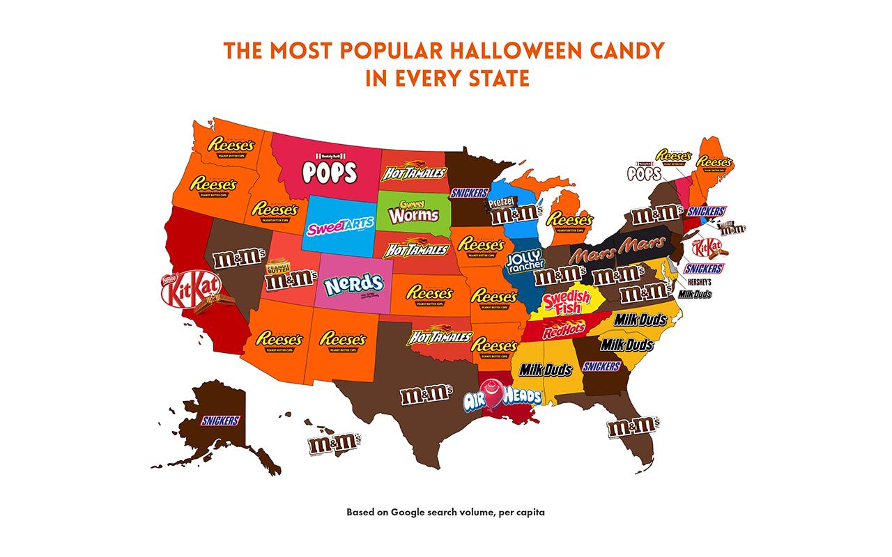 ハロウィーン菓子地図と状態にするのが好むか