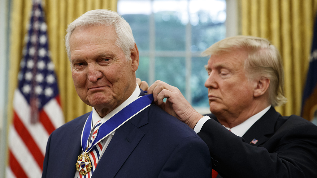 NBA legend Jerry West honored with Presidential Medal of Freedom