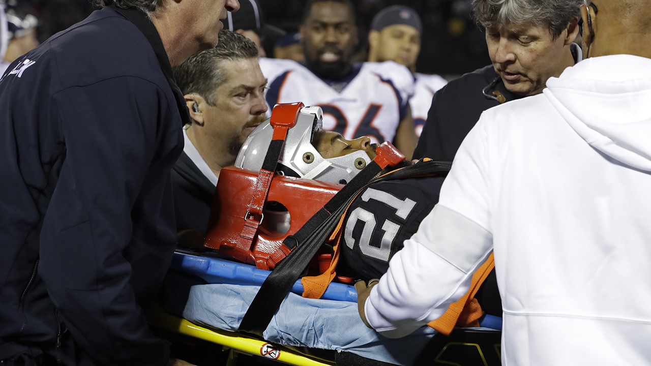 Westlake Legal Group NFL-Gareon-Conley Oakland Raiders' Gareon Conley suffers scary neck injury, taken off field on stretcher Ryan Gaydos fox-news/sports/nfl/oakland-raiders fox-news/sports/nfl fox news fnc/sports fnc article 998d6e9f-5288-5946-a139-59715811602f