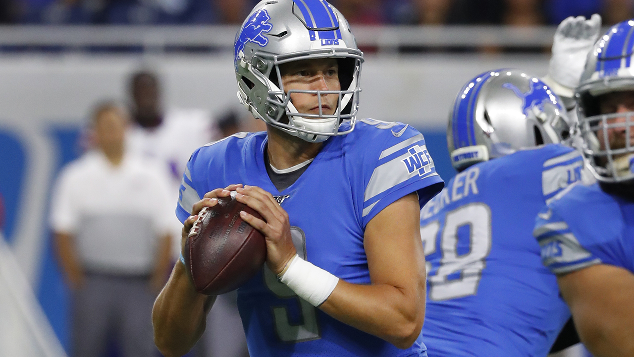 Lions quarterback Matthew Stafford sidelined with broken bones in back, report says